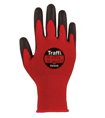TraffiGlove TG1010 / TG122 Classic Cut 1 Gloves Size 6,7,8,9,10,11 (Pack of 10)