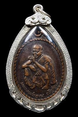 LP. Koon Wat Banrai Thai Amulet Buddha Phra Coin Pendant MAGIC Rich Talisman