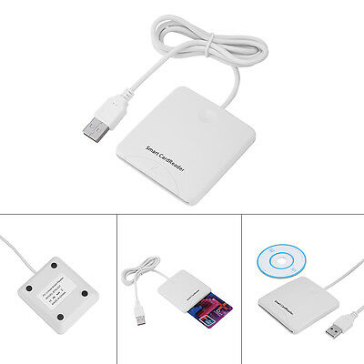 Portable USB Contact Smart Chip Card IC CreditCard Reader Writer With SIM Slot O
