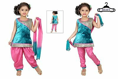Girl Churidar patiala Salwar kameez for babies aged 1 to 48 months indian style