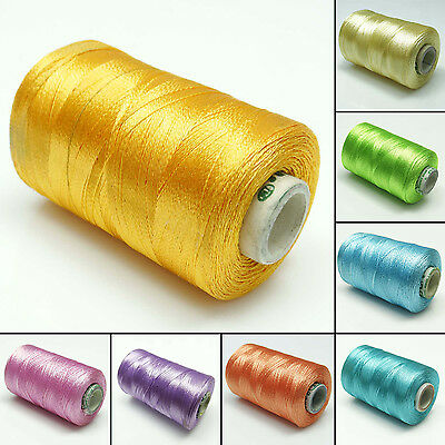 Lot Of 10 Pcs Sewing Supplies Spool Silver Embroidery Machine Thread Cones
