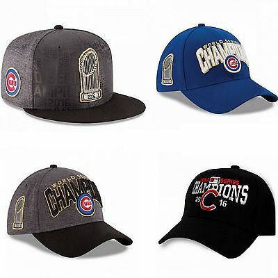 Baseball Cap 2016 Chicago Cubs Hat World Series Champions Blue Grey Gift Men