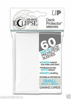 Ultra pro Eclipse Sleeves White 60ct. Small Fits Vanguard & Yugioh