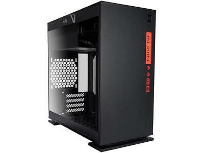 IN WIN 301 Black Black SECC / Tempered Glass Micro-ATX Mini Tower Computer Case
