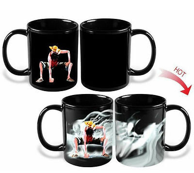 TAZZA MAGICA ONE PIECE LUFFY RUFY GEAR THIRD CALORE HEAT RECIVE MUG second