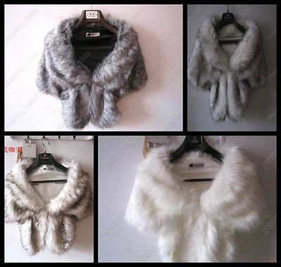 New Winter Women's Faux Fur Scarf Collar Long Shawl Scarves Stole Wrap Scarf yu