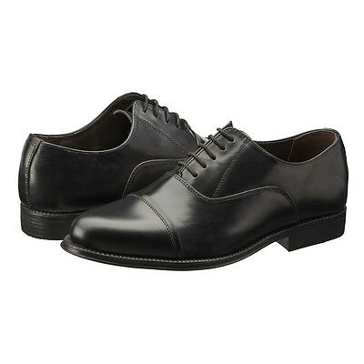 Mens Real Leather Black Formal Oxford Shoes Hand Stitched & Glued Soles Lace-Up