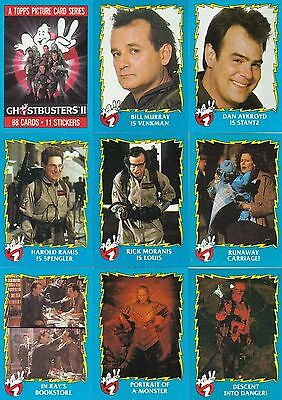 Ghostbuster II - Complete Trading Card Set (88) - 1989 TOPPS - NM