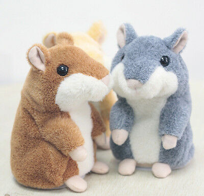 Adorable Toy Mimicry Pet Speak Talking Record Hamster Mouse Plush Kids Toy SP
