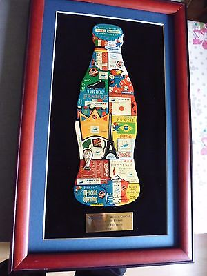 1 COCA COLA BOTTLE PIN OF THE EVENT SET FRANCE WORLD CUP 1998 IM RAHMEN a