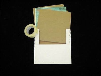 """LP Record Mailer Kit - 25 Mailers, 50 - 12.25"""" x 12.25"""" Pads & 1 Roll of Tape"""