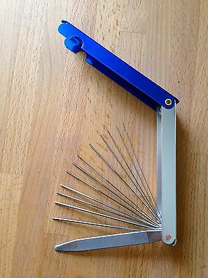 Guitar top nut file tool set, improved XL version cuts better and cleaner Warman