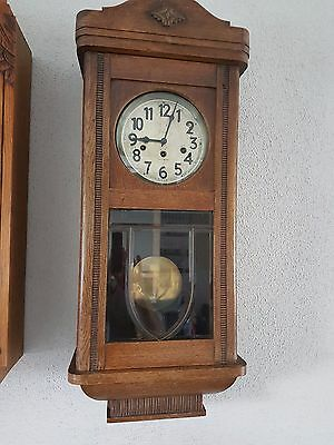 0079-Antique German Junghans  Westminster chime wall clock