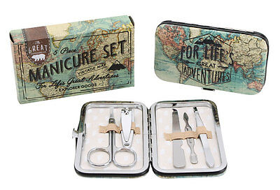 Life Great Adventure Small MANICURE Pedicure Set Kit MENS Ladies Travel Gift