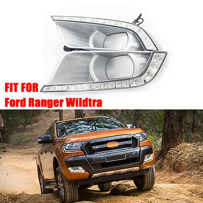 Power LED Daytime Running Light DRL For Ford Ranger Wildtrak T6 2016 2017 2018