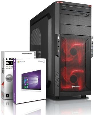PC Quad Core Computer GAMER FX 4100 8GB NVIDIA GT710 Rechner Komplett Windows 10