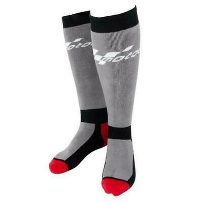 New Pair Of Grey Black Red Knee Motogp Cotton Motorcycle Boot Socks Adult 1 Size
