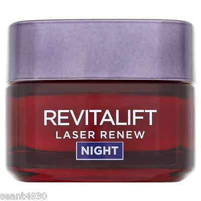 L'Oreal Revitalift Laser Renew Anti Ageing Cream Face Mask Night 50ml Treatment