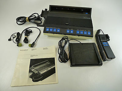 Dictaphone DCX II 1880 MiniCassette Transcriber / Dictation System Bundle w/ Mic