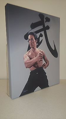 "Very Limited Edition Bruce Lee ""Fist of Fury"" Pose on Canvas 20 X 16."