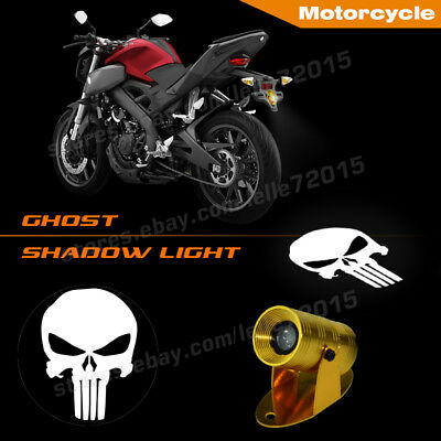Motorcycle 3D Punisher Logo Laser Projector Shadow CREE LED Puddle Motor Light