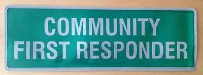 Encapsulated COMMUNITY FIRST RESPONDER reflective badge 300mm