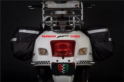 Vespa Px 125 Efl 84 > 97 Corazzo Scooter Pannier Rear Luggage Bags Pouch