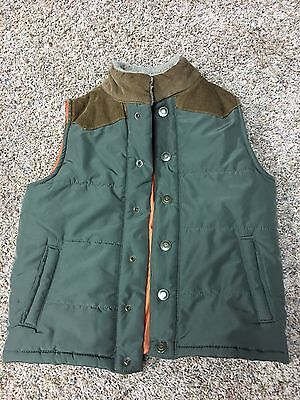CARTER'S ~ 7T ~ Toddler Boy's Puffer Vest ~ Army Green, Brown