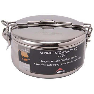 MSR Alpine Stowaway Pot 775ml - Compact Stainless Steel Cooking Backpacking Camp