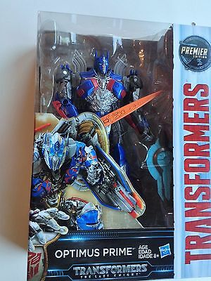 Transformers 5 The Last Knight Optimus Prime Premier Edition Voyager Hasbro NISB
