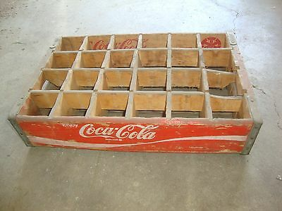 Vintage 1971 Wooden Red Coca-Cola Coke Soda Pop Bottle Crate Carrier Box
