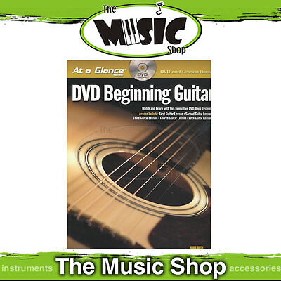 "New ""At A Glance DVD Beginning Guitar""  Book & DVD Pack - Lesson Book"