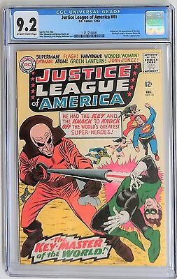 Justice League of America #41 (1965)  CGC 9.2 NM- OW/W       1ST App of The Key