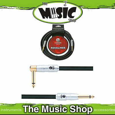 Carson 20ft 7mm Guitar Cable Straight - Right  Angle End Lead - Quality Ends