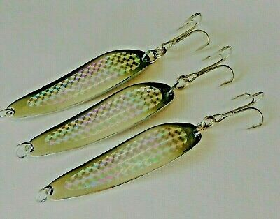1-10 pcs 5oz Casting Kast Spoons Silver Holographic Saltwater Fishing Lures
