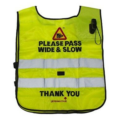 Hack Cam Tabard Please Pass Wide & Slow C/W Standard Camera - Rider Safety Wear