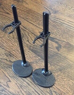 Monster High Doll Stands - 2 Monster High Female Doll Stands Black - New