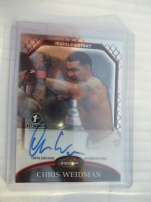 Chris Wiedman UFC Topps 1st  Auto + Knockout , Finest  and  Bloodlines Card Lot