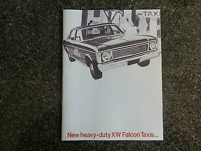 Ford 1969 Xw  ''taxi''   Sales Brochure   100% Guarantee