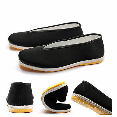 Chinese  Kung Fu Tai Chi Shoes Material Art Slip On RUBBER Sole Canvas Slippers
