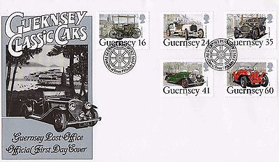Guernsey - Classic Cars - First Day Cover 1994