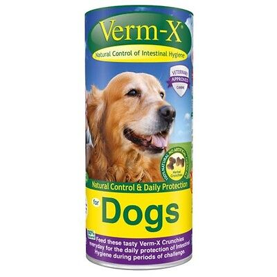 Verm-X Herbal Crunchies For Dogs - Cat & Dog Wormers/Endoparasite