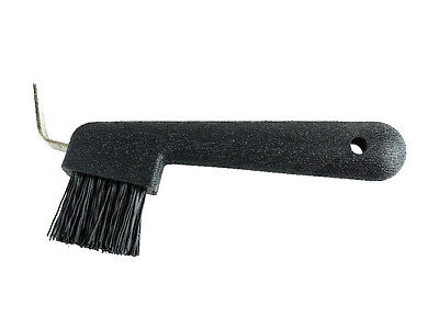 Hoof Pick with Brush - Black - Grooming Kit