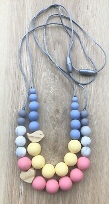 SOLD OUT (was teething) Necklace for Mum Jewellery Beads aqua Aus Gift