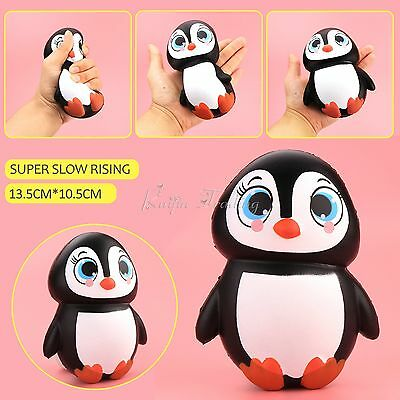 14CM Jumbo Penguin Squishy Slow Rising Phone Strap Stress Relieve Squeeze Toy