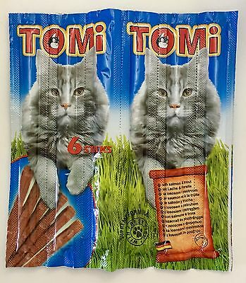 TOMI Natural Cat Sticks with Salmon & Trout X 6 Sticks - 30 g' Germany Product