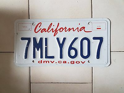 Plaque d immatriculation California 7MLY607 USA US License Plate