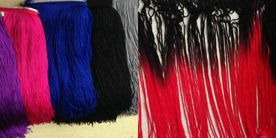 "Tassel Fringe Trim 30 cm 12"" Drop costume furniture Assorted Colours 1 yard"