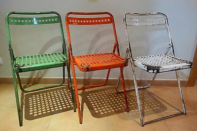 3 sillas vintage industrial Francia 1950s silla french chair lot chairs