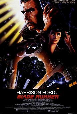 Blade Runner Movie POSTER 27 x 40, Harrison Ford, Rutger Hauer, A1, LICENSED NEW
